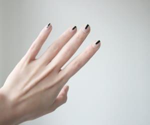 nails, hand, and black image