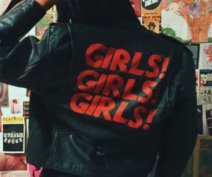 bad girl, leather, and metal image