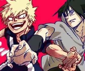 anime, sasuke, and crossover image