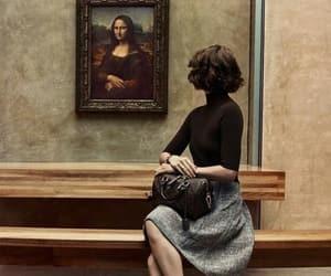 art, mona lisa, and museum image