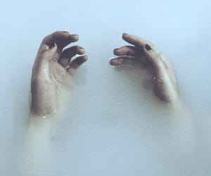 grunge, hands, and water image
