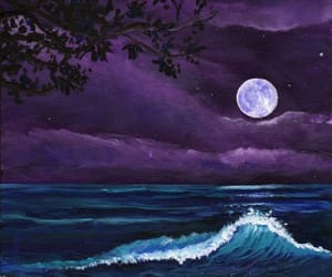 painting, ocean, and art image