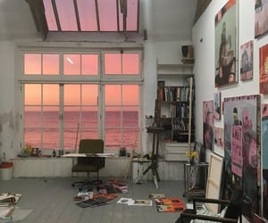 art, pink, and aesthetic image
