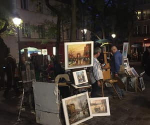 art, night, and paint image