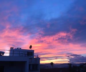 Athens, pink, and sky porn image