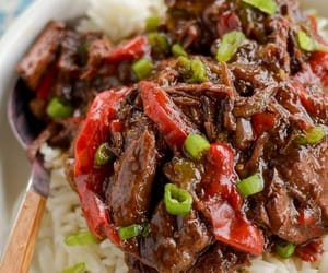 beef recipes, slow cooker recipes, and spicy beef image