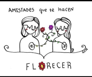 flowers, amistad, and florecer image