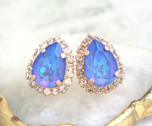 crystal, earrings, and etsy image