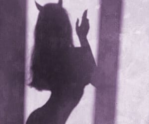 girl, Devil, and shadow image
