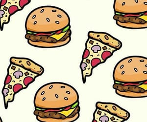 background, hamburger, and pizza image