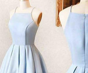 simple prom dresses, sleeveless prom dresses, and blue homecoming dresses image