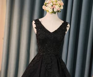 black prom dresses, sleeveless prom dresses, and beautiful prom dresses image