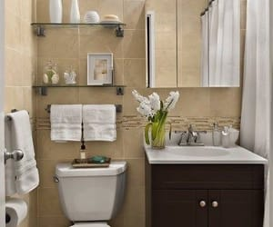 bathroom, decorations, and style image