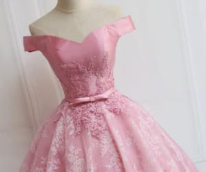 pink prom dress, prom dress short, and homecoming dress 2018 image
