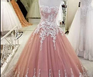 long prom dress, lace prom dress, and evening dresses 2018 image