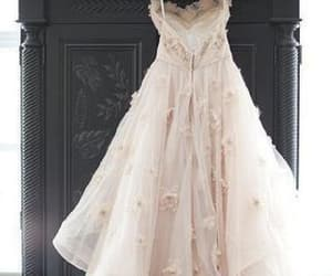 wedding dresses, light pink wedding dress, and wedding dress pink image