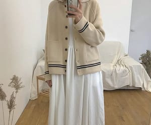 beige, cardigan, and vintage image