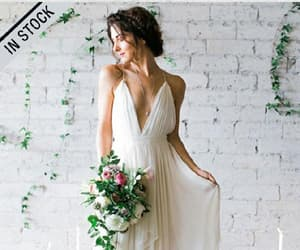 wedding dress, a-line party dress, and ivory wedding dresses image