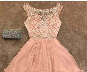 pink prom dress, blush homecoming dresses, and short prom dress image