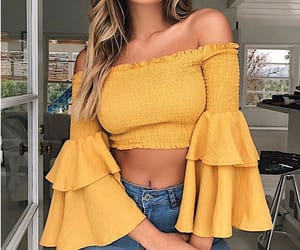 clothes, style, and yellow image