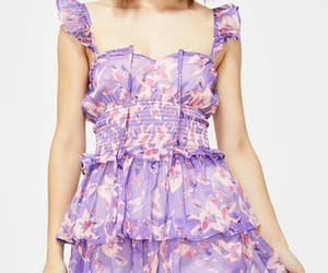 dress, fashion, and floral print image