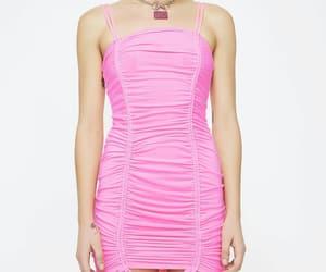 dress, fashion, and pink dress image