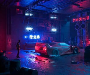 car, colors, and flourescent image