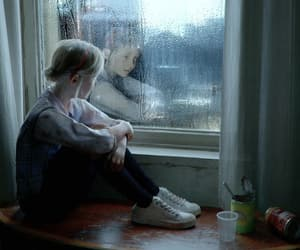 blonde, rain, and tights image