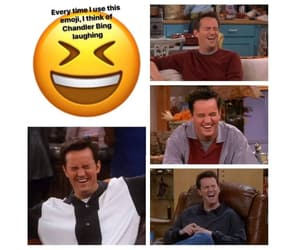 90s, chandler bing, and laugh image