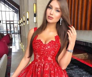 homecoming dresses, party dresses a-line, and red party dresses image