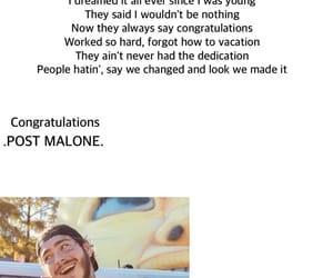 congratulations, Lyrics, and post malone image