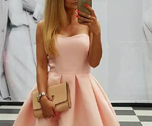 wedding dress, homecoming dresses, and pink prom dresses image