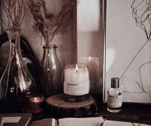 art, books, and candle image