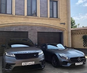 car, range rover, and mercedes image