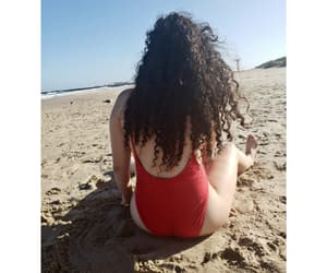 beach, curls, and girl image