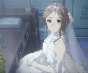 anime, violet evergarden, and wedding image