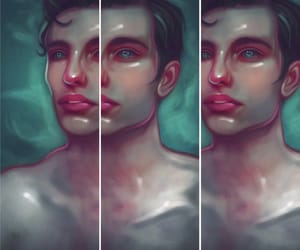 digital painting, fantasy art, and male portrait image
