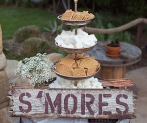 food, smores, and wedding image