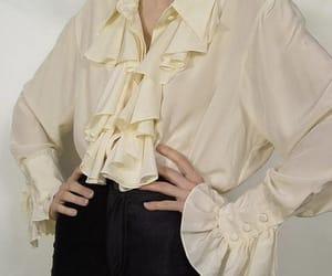 blouse, fashion, and flounce image