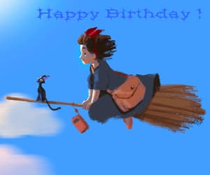 gif, happy birthday, and witch image