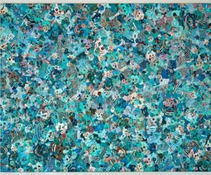 art, contemporary art, and turquoise image