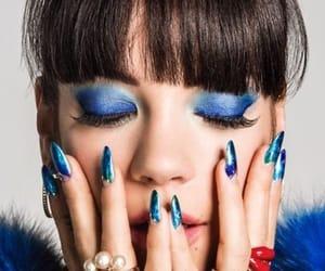 azul, uñas, and manicura image