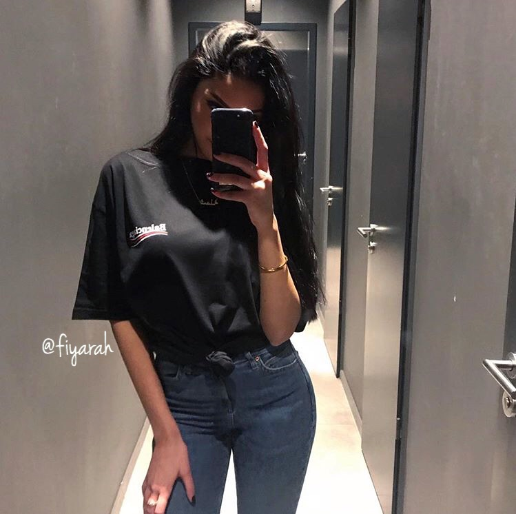 balenciaga jean, outfit clothes chic, and stylish classy look image