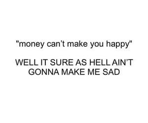 money, happy, and sad image