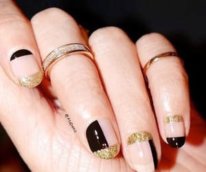 black and gold, sparkling, and glitter image