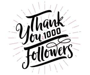 1000, celebration, and thank you image