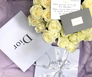 bouquet, dior, and gift image