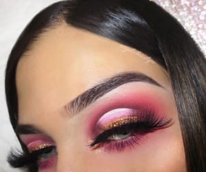 eyeshadow, makeup, and pink image