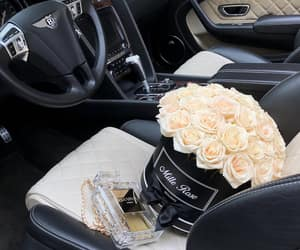 Bentley, car, and roses image