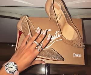 diamonds, louboutin, and shoes image